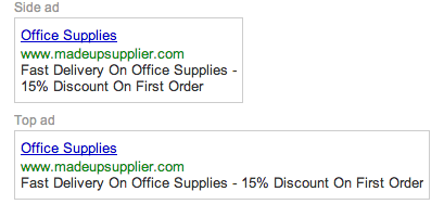 Google Adwords Adverts